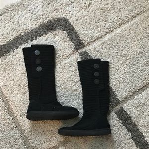 UGG Boots SZ 7 black cardy slouch